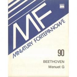 Ludwig van Beethoven MENUET G-DUR NA FORTEPIAN. MINIATURA FORTEPIANOWA 90