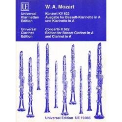 Wolfgang Amadeus Mozart KONZERT KV 622. AUSGABE FUR BASSETT-KLARINETTE IN A UND KLARINETTE IN A [antykwariat]