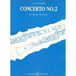 Carl Maria von Weber CONCERTO NO. 2 FOR CLARINET AND PIANO [antykwariat]