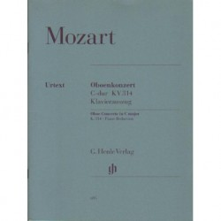 Wolfgang Amadeus Mozart OBOENKONZERT C-DUR KV 314. KLAVIERAUSZUG [antykwariat]