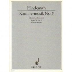 Paul Hindemith KAMMERMUSIK NO 5 (BRATSCHEN-KONZERT) OPUS 36 NO 4. KLAVIERAUSZUG [antykwariat]