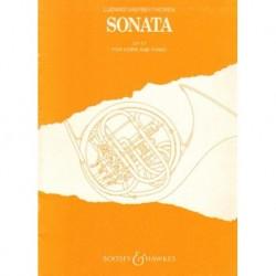 Ludwig van Beethoven SONATA OP. 17 FOR HORN AND PIANO [antykwariat]