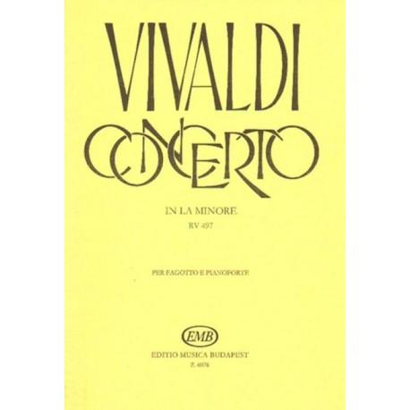 Antonio Vivaldi CONCERTO IN LA MINORE RV 497 PER FAGOTTO E PIANOFORTE [antykwariat]