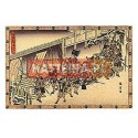 Utagawa Hiroshige NOCNY ATAK, EPIZOD DRUGI Z XI AKTU [pocztówka]