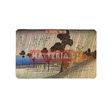 Utagawa Hiroshige WIECZORNY DESZCZ W KOIZUMI [pocztówka]