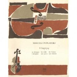 Marceli Popławski 4 KAPRYSY NA SKRZYPCE I FORTEPIAN [antykwariat]