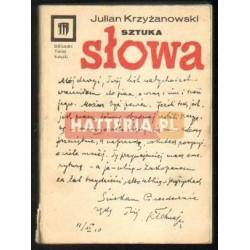 Julian Krzyżanowski SZTUKA SŁOWA [antykwariat]