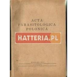 ACTA PARASITOLOGICA POLONICA. VOLUMEN 1. FASCICULI 1-8 [antykwariat]