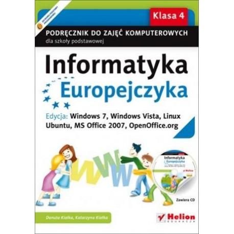 INFORMATYKA EUROPEJCZYKA. PODRĘCZNIK DLA KL. 4 SZKOŁY PODSTAWOWEJ + PŁYTA CD-ROM
