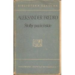 Aleksander Fredro ŚLUBY PANIEŃSKIE [antykwariat]