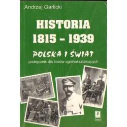 Andrzej Garlicki HISTORIA 1815-1939 [antykwariat]