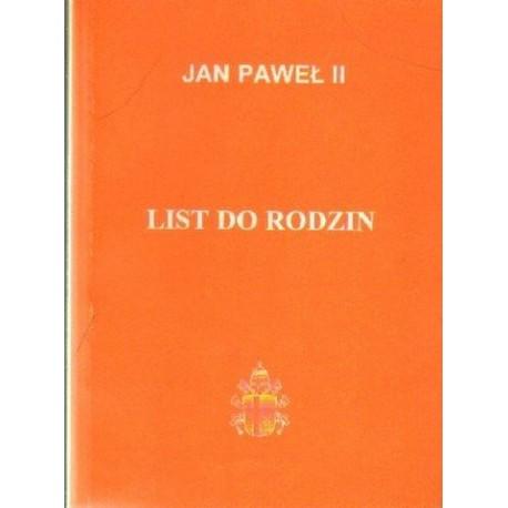 Jan Paweł II LIST DO RODZIN [antykwariat]