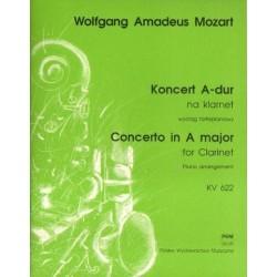 Wolfgang Amadeus Mozart KONCERT A-DUR NA KLARNET [KV 622]. WYCIĄG FORTEPIANOWY