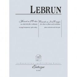 Ludwig August Lebrun KONCERT NR 2 C-DUR NA OBÓJ LUB FLET I ORKIESTRĘ. WYCIĄG FORTEPIANOWY I GŁOS SOLISTY