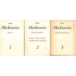 Adam Mickiewicz DZIEŁA POETYCKIE. TOM 1-3 [antykwariat]