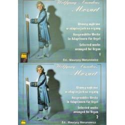 Wolfgang Amadeus Mozart UTWORY WYBRANE W ADAPTACJACH NA ORGANY. KOMPLET