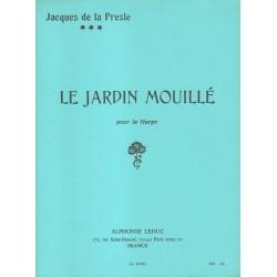 Jacques de la Presle LE JARDIN MOUILLE POUR HARPE