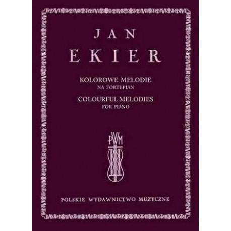 KOLOROWE MELODIE NA FORTEPIAN + CD Jan Ekier