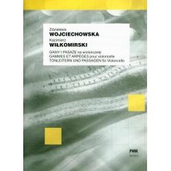 GAMY I PASAŻE NA WIOLONCZELĘ Zdzisława Wojciechowska, Kazimierz Wiłkomirski