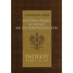 Stanisław Płaza HISTORIA PRAWA W POLSCE NA TLE PORÓWNAWCZYM. CZĘŚĆ 4: INDEKSY