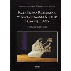 ROLA PRAWA RZYMSKIEGO W KSZTAŁTOWANIU KULTURY PRAWNEJ EUROPY Urszula Fronczek, Przemysław Kornaś