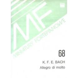 K.F.E Bach ALLEGRO DI MOLTO MINIATURA FORTEPIANOWA 68