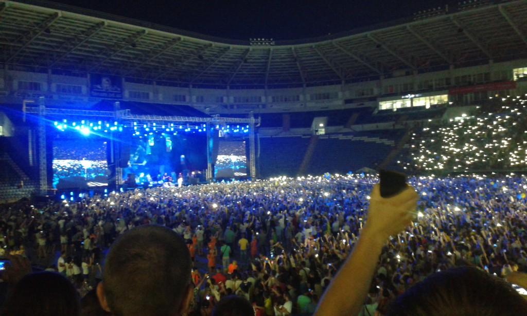 Okean Elzy - koncert na stadionie Czernomorec w Odessie