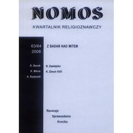 NOMOS. KWARTALNIK RELIGIOZNAWCZY. NR 63-64 (2008): Z BADAŃ NAD MITEM