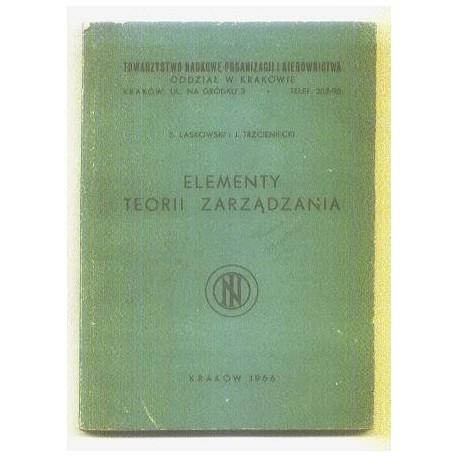 S. Laskowski, J. Trzcieniecki ELEMENTY TEORII ZARZĄDZANIA [antykwariat]