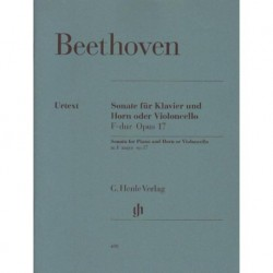 Ludwig van Beethoven SONATE F-DUR OPUS 17 FUR KLAVIER UND HORN ODER VIOLONCELLO [antykwariat]