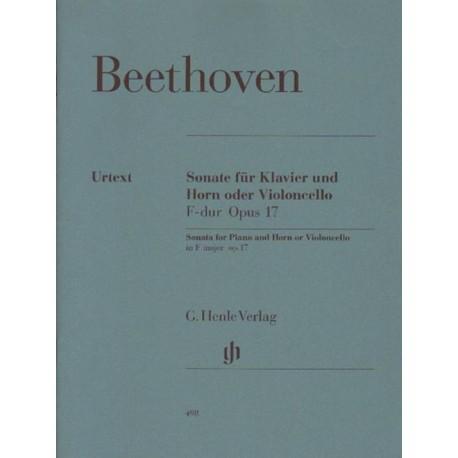 Ludwig van Beethoven SONATE F-DUR OPUS 17 FUR KLAVIER UND HORN ODER VIOLONCELLO