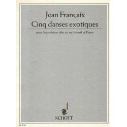 Jean Françaix CINQ DANSES EXOTIQUES POUR SAXOPHONE ALTO EN MI BEMOL ET PIANO [antykwariat]