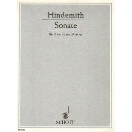 Paul Hindemith SONATE FUR BRATSCHE UND KLAVIER [antykwariat]