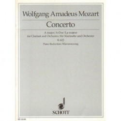 Wolfgang Amadeus Mozart CONCERTO A MAJOR FOR CLARINET AND ORCHESTRA K 622. PIANO REDUCTION [antykwariat]