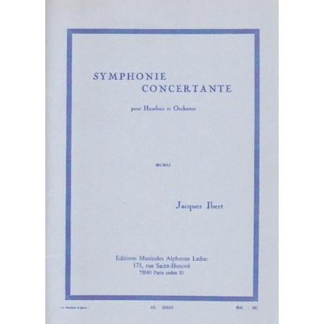 Jacques Ibert SYMPHONIE CONCERTANTE POUR HAUTBOIS ET ORCHESTRE [antykwariat]