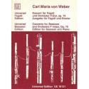 Carl Maria von Weber KONZERT FUR FAGOTT UND ORCHESTER F-DUR OP. 75. AUSGABE FUR FAGOTT UND KLAVIER [antykwariat]