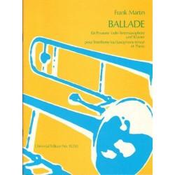 Frank Martin BALLADE FUR POSAUNE (ODER TENORSAXOPHON) UND KLAVIER [antykwariat]