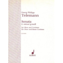 Georg Philipp Telemann SONATA G MINOR FOR OBOE AND CONTINUO [antykwariat]