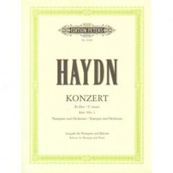 Joseph Haydn KONZERT ES-DUR FUR TROMPETE UND ORCHESTER HOB. VIIe: 1. AUSGABE FUR TROMPETE UND KLAVIER [antykwariat]