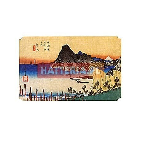 WIDOK Z MAISAKA NA PRZYLĄDEK IMAGIRI Utagawa Hiroshige [pocztówka-073]