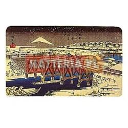 Utagawa Hiroshige MOST NIHONBASHI W ŚNIEGU [pocztówka]