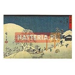 Utagawa Hiroshige ŚNIEG W SEKI [pocztówka]