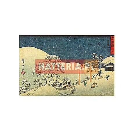 ŚNIEG W SEKI Utagawa Hiroshige [pocztówka-074]