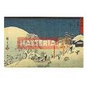 ŚNIEG W SEKI Utagawa Hiroshige [pocztówka]