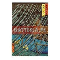 ULEWA W WĄWOZIE YAMABUSHI W PROWINCJI MIMASAKA Utagawa Hiroshige [pocztówka]