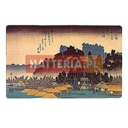Utagawa Hiroshige WIECZORNY DZWON W IKEGAMI [pocztówka]