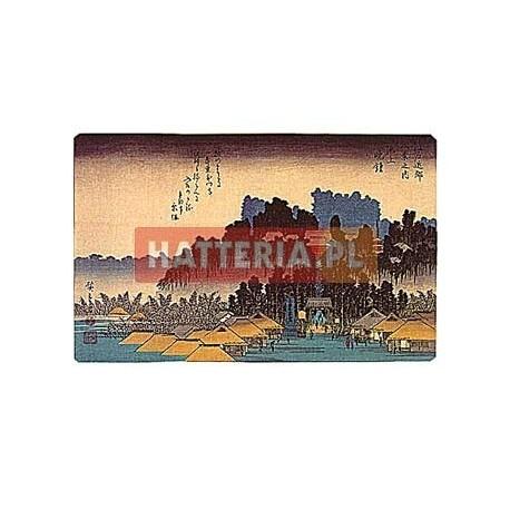 WIECZORNY DZWON W IKEGAMI Utagawa Hiroshige [pocztówka-072]