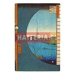 WIDOK Z OKNA NA RZEKĘ UCHI I LASY SUIJIN W WIOSCE SEKIYA Utagawa Hiroshige [pocztówka-080]