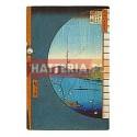 WIDOK Z OKNA NA RZEKĘ UCHI I LASY SUIJIN W WIOSCE SEKIYA Utagawa Hiroshige [pocztówka]