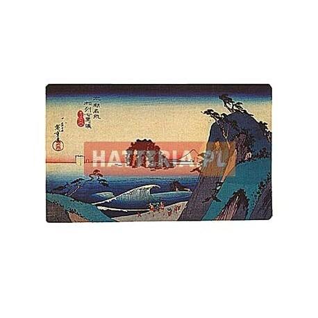 WYBRZEŻE SHICHIRIGA-HAMA W PROWINCJI SAGAMI Utagawa Hiroshige [pocztówka-078]